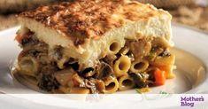 Νόστιμη και εύκολη συνταγή για παστίτσιο με μελιτζάνες και κιμά! Greek Recipes, Vegan Recipes, Cooking Recipes, Cooking Ideas, Feta, Kai, Pasta Dishes, Lasagna, Sandwiches