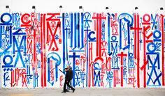 Mural by RETNA