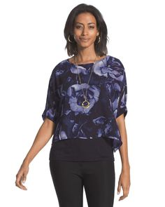Chico's Painted Rose Two-In-One Top #chicos