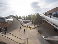 WAA transforms Beijing warehouses into a playscape for sensory learning.