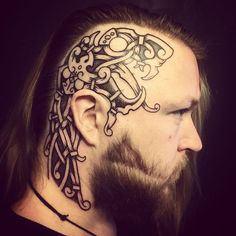 """Vikings have become so popular over the years. The word """"viking"""" comes from Old Norse, meaning """"a pirate raid."""" The mystique of Viking culture and their beliefs still remain relevant today. Here are the top Viking snake tattoo ideas for men and women. Head Tattoos, Body Art Tattoos, Small Tattoos, Cool Tattoos, Zodiac Tattoos, Sleeve Tattoos, Irish Tattoos, Celtic Tattoos, Viking Tattoos For Men"""