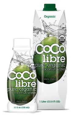Coco Libre -- best coconut water i've tasted (thanks, Sis!) AND it's organic.