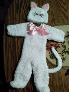 Crochet kitten outfit, super soft and fuzzy.