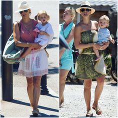 Princess Madeleine, Princess Leonore and Prince Nicolas of Sweden on holiday in St.Tropez
