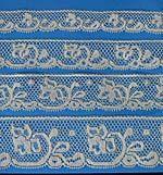 SP-1: 1061, 1062, 1063, 1064 Ecru French Lace Edgings, Vintage Ecru