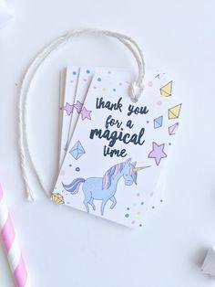 Unicorn Birthday Favor Tags. Unicorn Party by PrintSmitten on Etsy