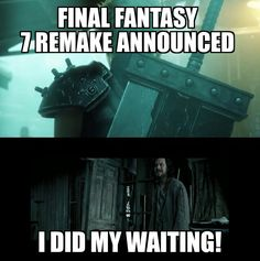 The wait is over #FFVII hells Ya... Eric is going to be so excited gonna surprise home with this info
