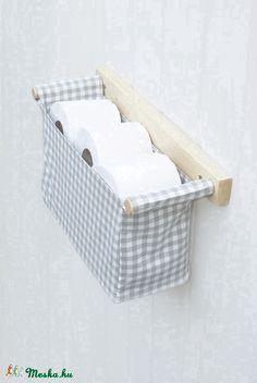 Fali tároló   1 rekeszes   szürke - fehér kockás rekesz, Bútor…