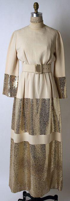 Norman Norell Silk Evening Dress, late 1960's