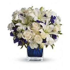 Order Sapphire Skies Bouquet flower arrangements from All Flowered Up Too, your local Lubbock, TX florist. Send Sapphire Skies Bouquet floral arrangement throughout Lubbock and surrounding areas. Father's Day Flowers, Flowers For You, Winter Flowers, Fresh Flowers, Buy Flowers, Purple Flowers, Sympathy Flowers, White Lilies, White Roses
