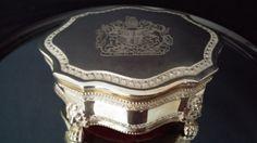 Silver Plated Jewelry Casket Box United by frankiesfrontdoor, $58.00