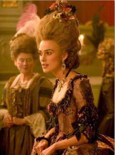 "Keira Knightley portrays the character of Georgiana Cavendish in the movie ""The Duchess""........"