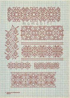 Particularly like the hanging fruit border Cross Stitch Borders, Cross Stitch Charts, Cross Stitch Designs, Cross Stitching, Cross Stitch Patterns, Blackwork Embroidery, Silk Ribbon Embroidery, Hand Embroidery Patterns, Cross Stitch Embroidery