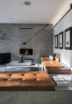 63 Modern House Interior Design Living Room - Home Decorations Trend 2019 Modern Interior, Home Interior Design, Interior Architecture, Interior And Exterior, Interior Decorating, Design Interiors, Minimalist Interior, Decorating Blogs, Gothic Interior