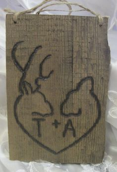 Rustic Wedding Barnwood Personalized by dlightfuldesigns on Etsy, $15.00