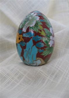 ON SALE was 13.99 Vintage Cloisonne Egg by DelicateCreations