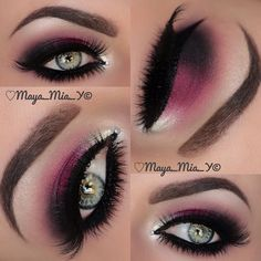 .@maya_mia_y | Berry ,Silver &Crystal Smokey Eye I used @motivescosmetics Lashes @F... | Webstagram