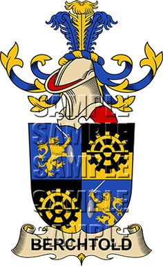 Berchtold Family Crest apparel, Berchtold Coat of Arms gifts