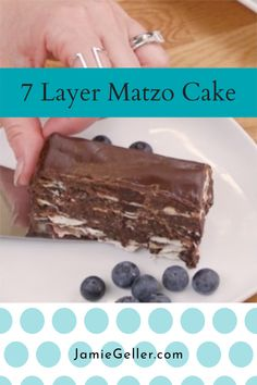 7 is such an important number in Judaism and an especially delicious one when it is wine soaked matzo covered in Chocolate. We think you will be pretty thrilled with this when you realize dessert is in the fridge and you didn't break a sweat. #matzo #dairyfree #dessert Non Dairy Desserts, Passover Desserts, Passover Recipes, Jewish Recipes, No Cook Desserts, Baking Recipes, Cake Recipes, Vegan Recipes, Dessert Recipes