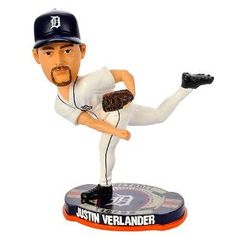 MLB Detroit Tigers Forever Collectibles Baseball Base Bobblehead Justin Verlander