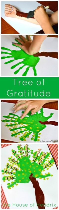 A Tree of Gratitude - Includes a character-building lesson for each step. I love when a craft develops not just fine motor skills but the heart as well. |the House of Hendrix