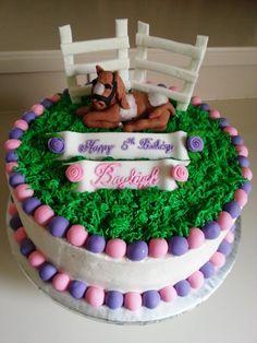 Girl's Pony Cake