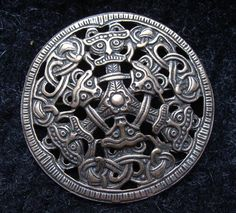 "Large #Danish #brooch, silver, replica of a ""viking age"" brooch. I love #Wulflund jewelry... bronze age replicas."