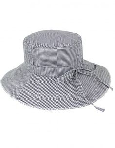 Dahlia Women's Summer Sun Hat - Gingham Wide Brim Bucket Hat