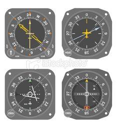 Aircraft instruments (set #5) Royalty Free Stock Vector Art Illustration