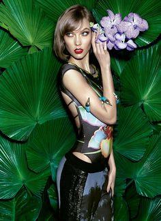 Vogue Brazil's Prints Princess, starring Karlie Kloss