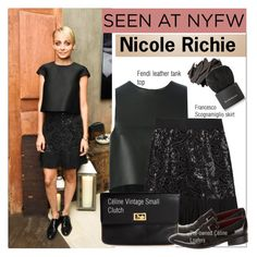"""60 Second style: NYFW after party"" by bohedgian ❤ liked on Polyvore featuring Fendi, Francesco Scognamiglio, CÉLINE, Bobbi Brown Cosmetics and Givenchy"