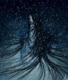 Chi è Yuki Onna? L\'affascinante donna delle nevi ♥ Who is Yuki Onna? The beautiful snow woman Yuki Onna, Arte Sci Fi, Sci Fi Art, Fantasy Women, Fantasy Art, Dark Fantasy, Japanese Legends, Rhapsody In Blue, Japanese Mythology