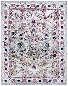 Antique Indian Rug Amristar with pink ornaments. Interior living room  decor with 20th century antique ornamental rug hand knotted wool #rug #interior #decor