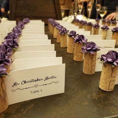 Blush Pink Place Card Holder for Wedding Bridal Shower Wine Wine Cork Wedding, Wedding Ideas With Wine Corks, Wedding Wine Theme, Wine Vineyard Wedding, Wedding Souvenir, Wedding Rustic, Wedding Favours, Diy Wedding, Wedding Flowers