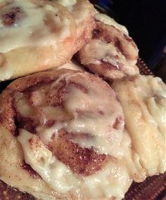 Fathead Cinnamon Rolls!! | ARCinOH | Copy Me That    Add 1 more c. almond flour, 2 tsp baking powder