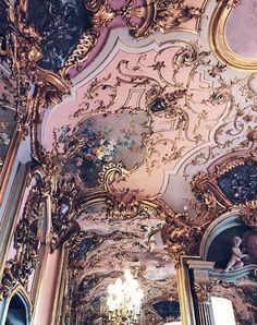 Beautiful Buildings, Beautiful Places, Baroque Architecture, Beautiful Architecture, Interior Architecture, Princess Aesthetic, Pink Aesthetic, Landscape Illustration, Illustration Art