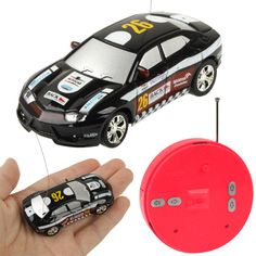 1:64 Scale Mini Radio Control RC Racing Car with Light, Frequency: 35MHz, Size: 69 x 32 x 20mm (2018-4)
