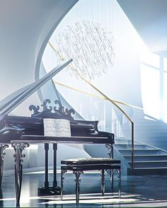 The beam of light just gets me it reflects ob the piano. If you try you can do whatever you want in life. Believe that you can play the piano and you will. Piano Y Violin, Piano Room, Piano Music, Sound Of Music, Music Is Life, Motif Music, Classical Music, Music Lovers, Musicals