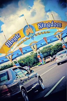 Entering the Magic Kingdom. They can access cars on both sides of those ticket booths. Walt Disney Land, Disney Love, Disney Pixar, Disney World Parks, Walt Disney World Vacations, Disney Destinations, Disney World Pictures, Disney Magic Kingdom, Downtown Disney