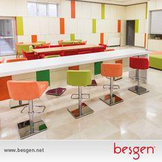 Beşgen, sosyal ve yaşam alanlarınızı da dilediğiniz renk ve özelliklerde donatabilir.