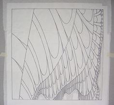 Construction of Lydia - fractal art quilt, step 4, uitleg over de manier waarop een fractal quilt wordt gemaakt.