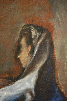 Detalle de La Visitación Atribuida al Greco Colección privada (Toledo)