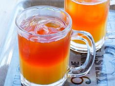オレンジアイスティー♡2層のドリンク♪の画像