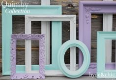 Baby Girl Nursery / Purple / White / Aqua / by hydeandchicboutique