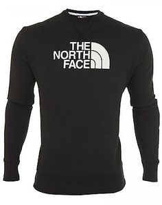 North Face Half Dome Fleece Crew Mens CKE4-KY4 Black White Sweatshirt Size L