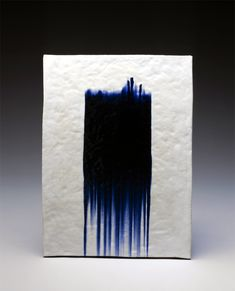Jun Kaneko, Wall slab 1996-- i looove this color blue for my bridesmaids dresses or flowers