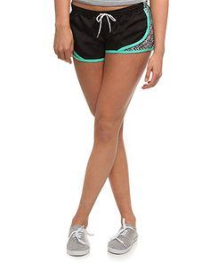 rue21 Black/Cheetah Running Short. I cannot wait to check out all the new active clothes. Shopping there very soon.