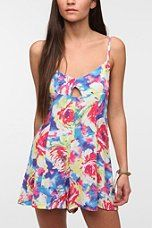 Motel Gracie Silky Floral Romper  #FloralShop #UrbanOutfitters