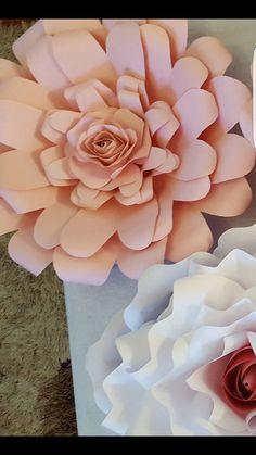 Paper Flower Template PDF digital  file 6 with mini rose