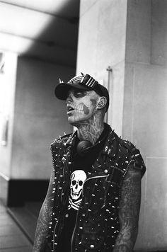 "jonathanwheat: "" saw Zombie Boy walking around London "" Rick Genest, Boy Walking, Cover Tattoo, Canadian Artists, Fashion Models, Punk, Actors, Boys, Baby Boys"